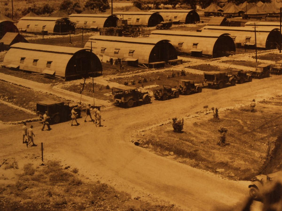 Tinian Island Quonset Huts. Photo courtesy of the Walter Goodman Collection.