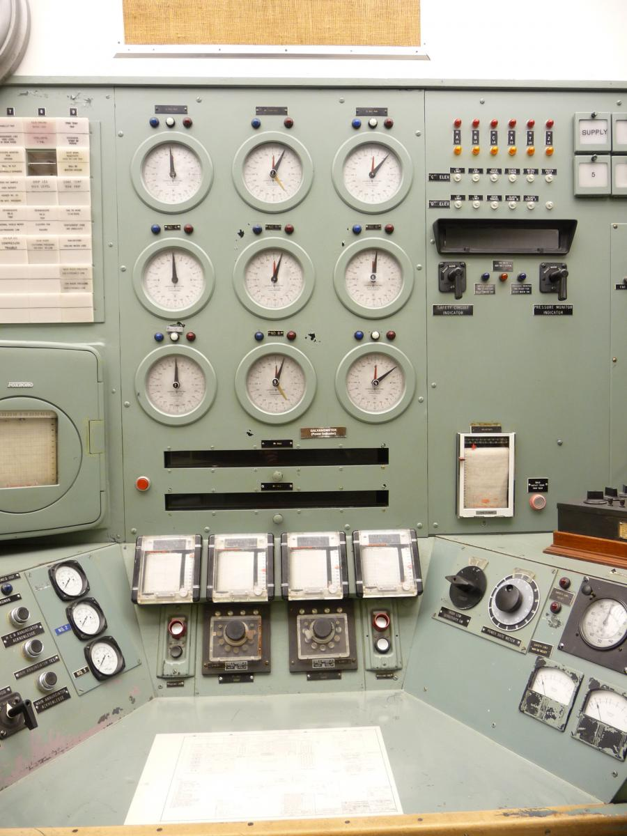 The control room at the B Reactor